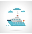 Flat design icon for steamer vector image