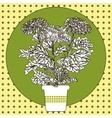 flower in pot vector image