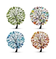 Four seasons - spring summer autumn winter Art vector image
