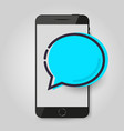 mobile phone chat message chat bubble concept of vector image