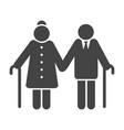 older couple icon vector image