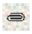 pixel icon clip on a square background vector image