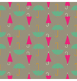 Retro seamless pattern of umbrella vector image