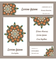 Set of greeting cards flyers ornamental mandala vector image