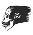 skull t-shirt graphic vector image