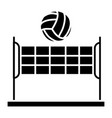 volleyball - summer sport icon vector image
