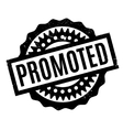 Promoted rubber stamp vector image