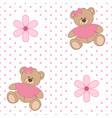 pattern bear flower vector image