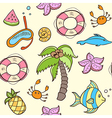 Summer seamless pattern with palm vector image vector image
