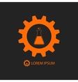 Orange chemical industry logo vector image
