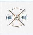 Photography Logo Design Template Retro Badge Photo vector image