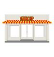 Store showcase Facade of shop building Storefront vector image