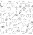 Seamless Pattern Gardening Equipment vector image