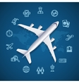 Airport World Travel Concept vector image