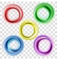 Colorful circles set vector image