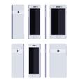 Generic white smartphone vector image