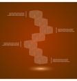 glass cubes ledder vector image