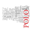 polo word cloud concept vector image