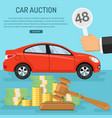 sale car at auction vector image