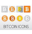 set bitcoin icons vector image