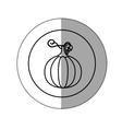 sticker silhouette circular shape with pumpkin vector image