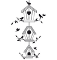 bird houses with tree branches vector image vector image