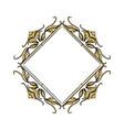 vintage frame geometric decoration heraldry blank vector image