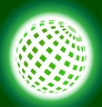 Green Planet Icon on Blue Background vector image
