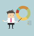 businessman points to chart vector image