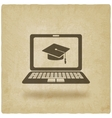 distance online learning symbol vector image