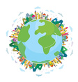 Global travel concept - cute design vector image vector image