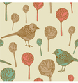 Retro Birds Pattern vector image
