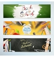 Back to school Set EPS 10 vector image
