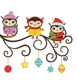 Card with cute owls vector image