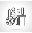 Job for disabilities black line icon vector image