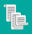 receipt icon paper invoice total bill vector image