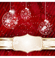 Red Bauble Background vector image
