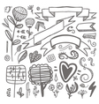set of hand-drawn decorative elements Wedding vector image