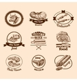 Sketch meat labels vector image