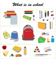 School essentials flat set vector image