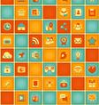 Square Pattern of Social Media in Retro Colors vector image