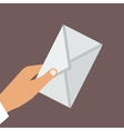 Hand Holding Envelope Flat style vector image vector image