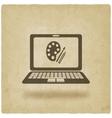 distance online learning symbol vector image