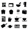 kitchen icons vector image
