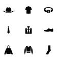 man wear 9 icons set vector image