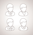 Line User Icons avatars vector image vector image