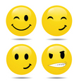 smiley set2 vector image