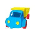 Toy truck cartoon icon vector image