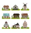 Medieval Ancient Buildings Set vector image