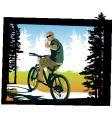mountainbiker thumbsup vector image